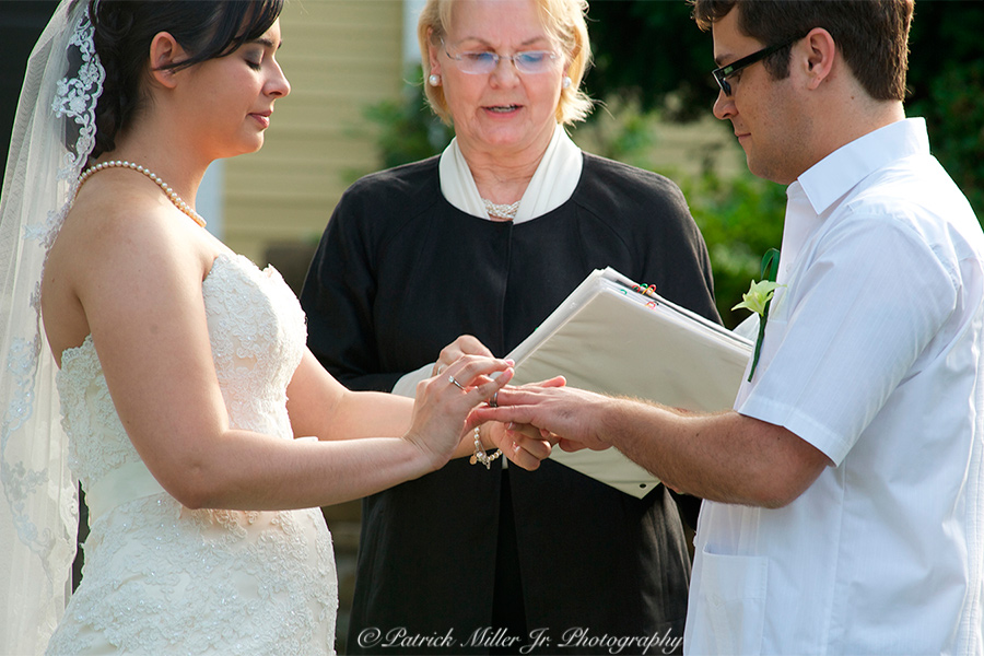 Wedding vows and exchanging rings