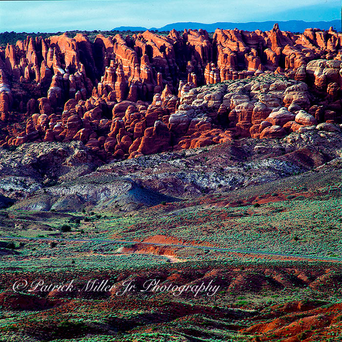 Painted Desert as the sun sets in Arizona