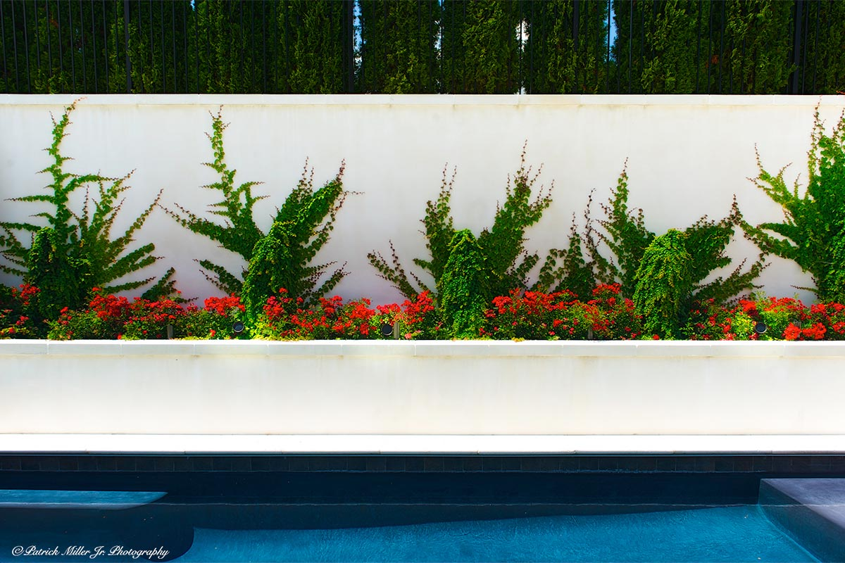 Pool Flower Bed Exterior DC