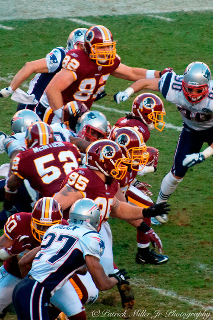 Redskins National Football Team playing at FedX Field, MD