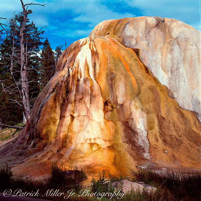 Mound formed next to one of Yellowstone National Park's Geysers