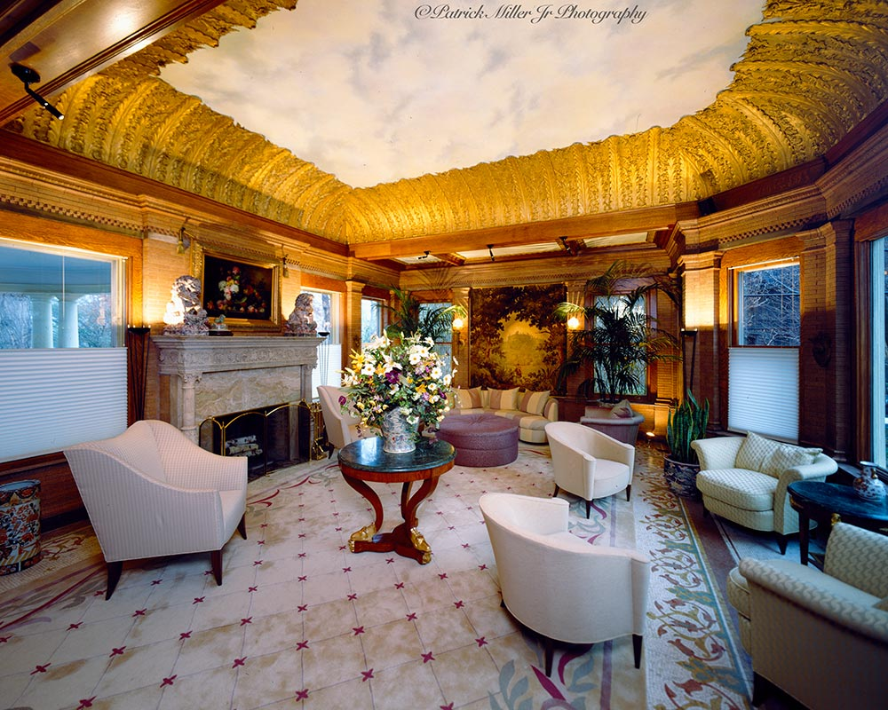 Interior Gold Leafed Ceiling NY
