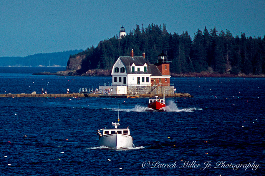 Lobster Boats Lighthouses Maine