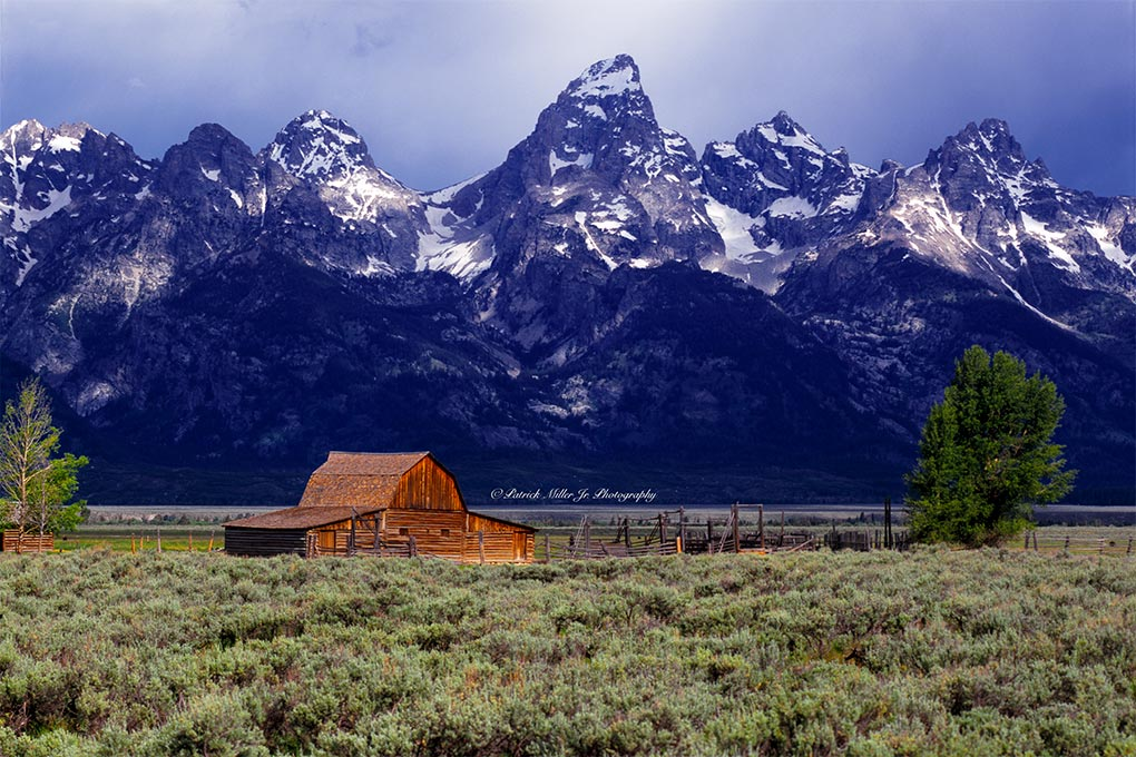 Historic Moulton Barn on at the base of the of the Grand Tetons National Park WY, MT