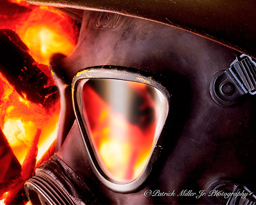 Product Photography Fire Gas Mask Refection, NY