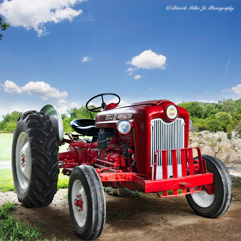 Restored Ford tractor on a farm in Maryland