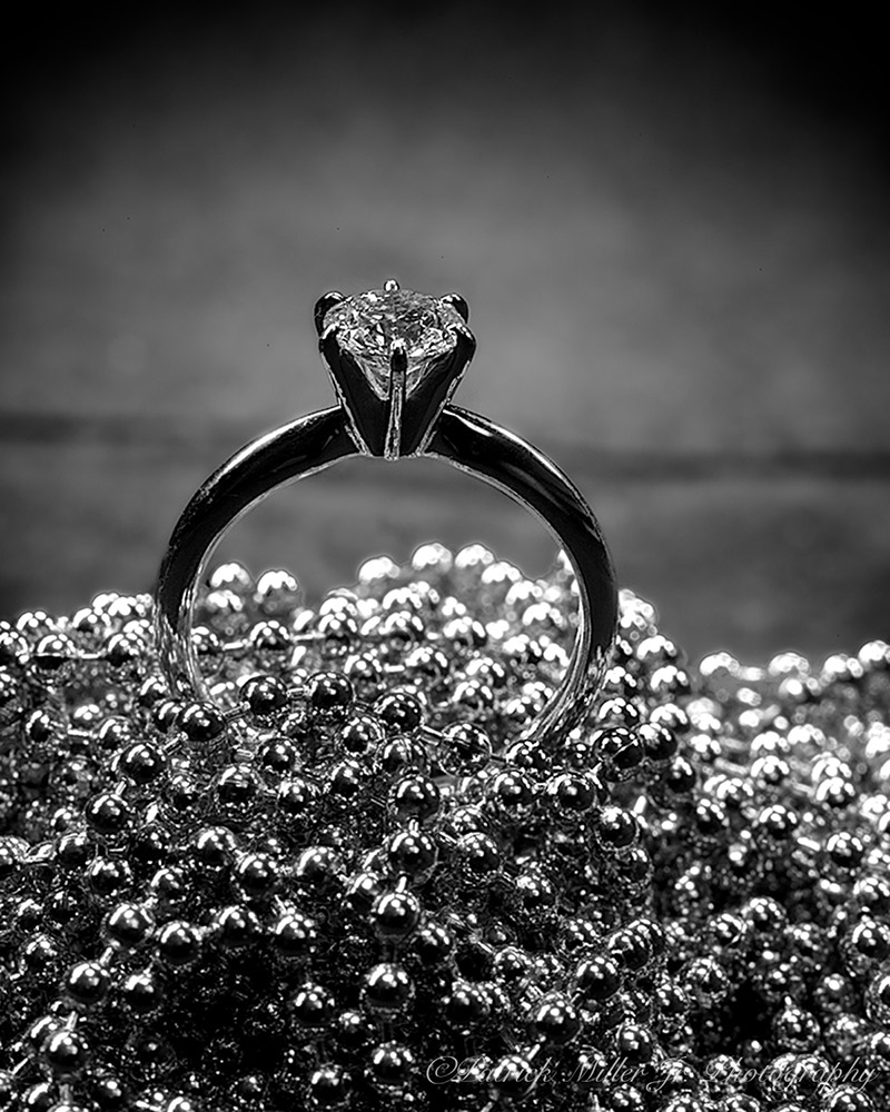 Product Photography Diamond Ring Silver Beads, DC