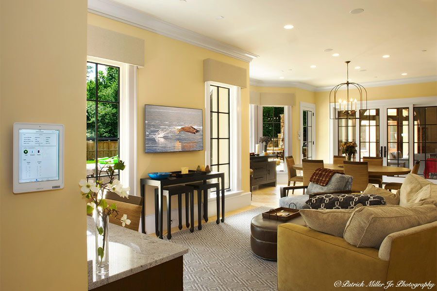Family Room Control iPad, MD Commercial Interior Architecture